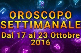 oroscopo settimanale 17-23 ottobre 2016