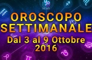 oroscopo settimanale 3-9 ottobre 2016