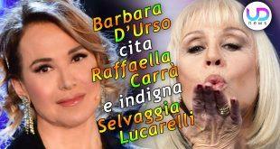 Barbara D'Urso Cita Raffaella Carrà